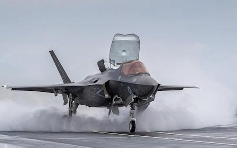An F35 on the largest and most powerful vessel ever built for the Navy - Credit: L Phot Heller