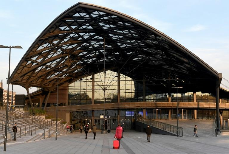The new train station in central Polish city Lodz already appears ready to welcome visitors for an expo in 2022