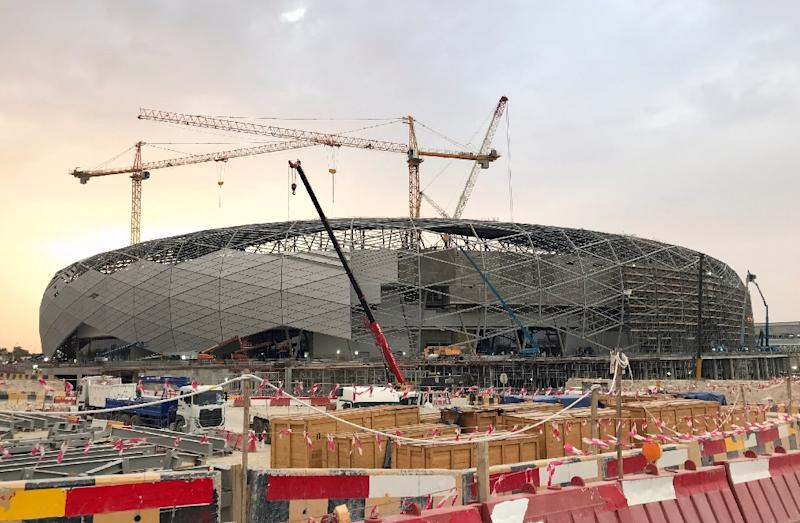 Qatar's under-construction Education City Stadium in Doha will be one of the venues of the 32-team 2022 World Cup (AFP Photo/Karim ABOU MERHI)