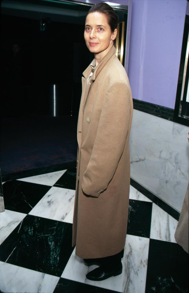 <p>Rossellini wears the Max Mara 101801 coat in 1991. (Photo: Courtesy of Max Mara) </p>