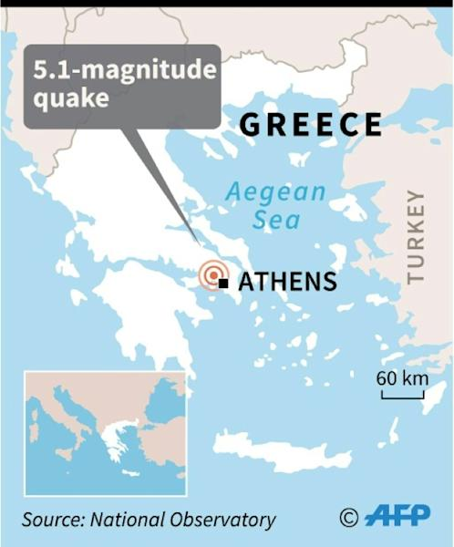 The 5.1-magnitude quake struck north of Athens