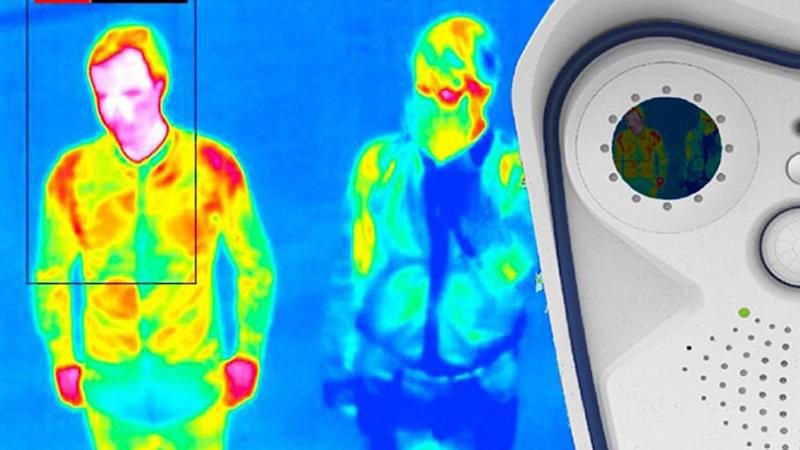 Undated handout photo of a thermal image of a person. Heathrow is to begin temperature screening of passengers, several weeks after the measure was deployed by many other major airports around the world.
