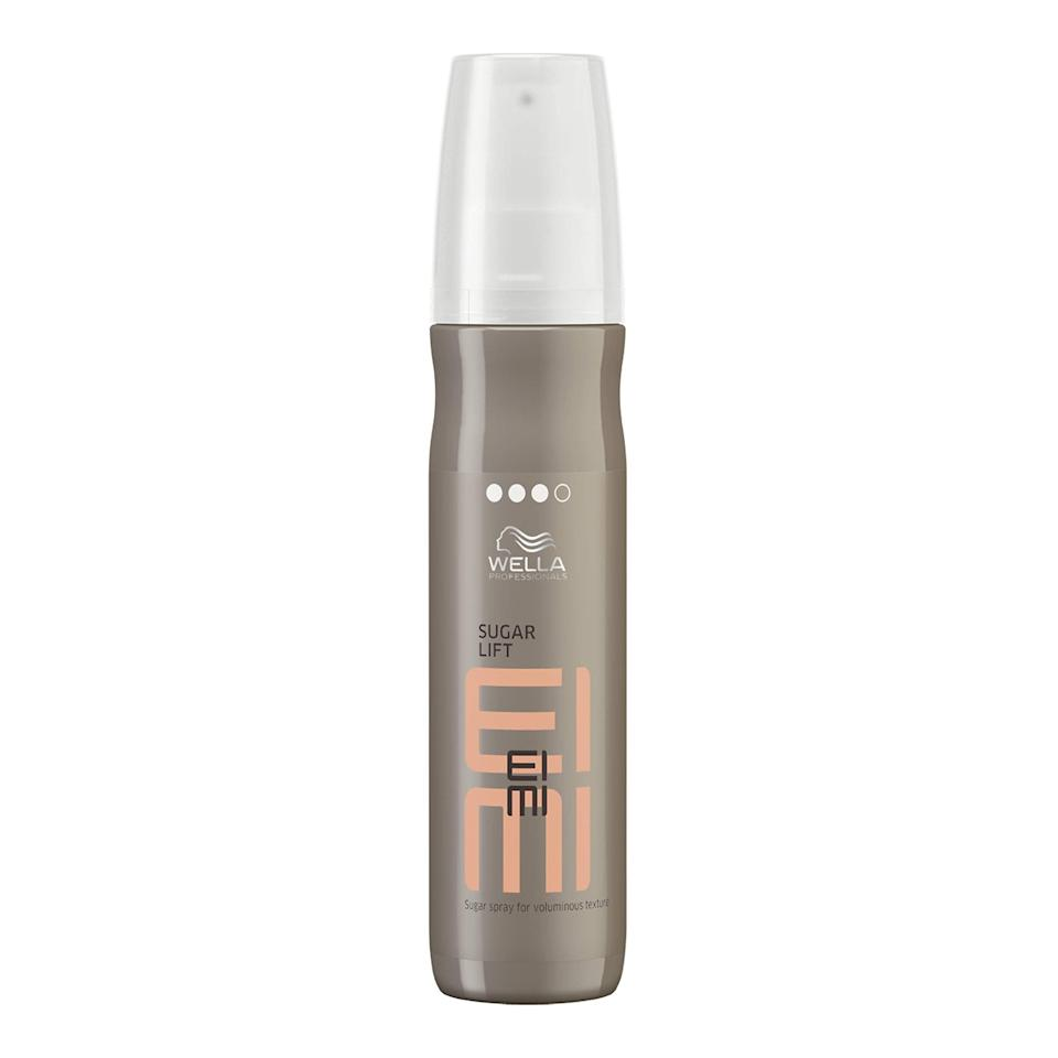 """<br><br><strong>Wella</strong> EIMI Sugar Lift Sugar Spray for Voluminous Texture, $, available at <a href=""""https://amzn.to/3f4ZyOG"""" rel=""""nofollow noopener"""" target=""""_blank"""" data-ylk=""""slk:Amazon"""" class=""""link rapid-noclick-resp"""">Amazon</a>"""