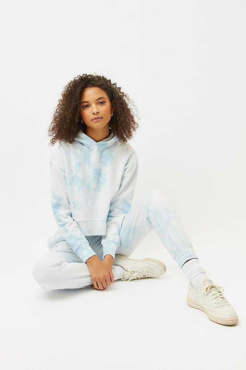 """<p>""""Loungewear is pretty much what I rock daily now, and I just can't get enough of it. The <span>Frankies Bikinis Burl Sweatshirt</span> ($140) and <span> Aiden Sweatpant </span> ($135) tie-dye combo is exactly what I need right now."""" - KJ</p>"""