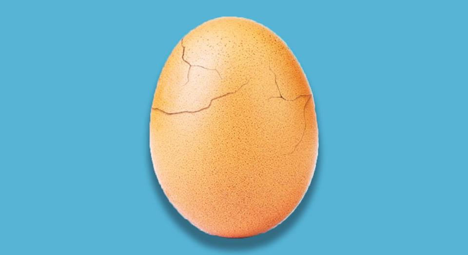 The cracked egg has become a symbol of mental health struggles. [Photo: Instagram]