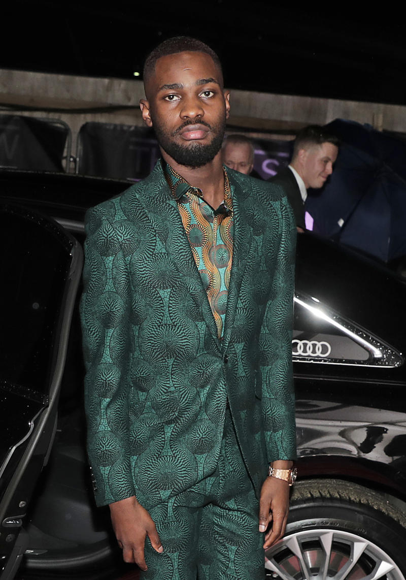 Dave arrives in an Audi at the BRIT Awards at The O2 Arena on February 18, 2020 in London, England. (Photo by David M. Benett/Dave Benett/Getty Images for Audi UK)