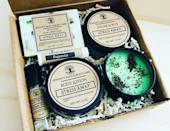 """<p><strong>SerenityBathByTisha</strong></p><p>etsy.com</p><p><strong>$54.00</strong></p><p><a href=""""https://go.redirectingat.com?id=74968X1596630&url=https%3A%2F%2Fwww.etsy.com%2Flisting%2F816989734%2Fstress-relief-aromatherapy-gift-box&sref=https%3A%2F%2Fwww.womansday.com%2Frelationships%2Ffamily-friends%2Fg35756207%2Fmothers-day-gift-baskets%2F"""" rel=""""nofollow noopener"""" target=""""_blank"""" data-ylk=""""slk:SHOP NOW"""" class=""""link rapid-noclick-resp"""">SHOP NOW</a></p><p>Does your mom seriously need to destress? Then get her this stress-relieving aromatherapy set, which comes with soap, a mint candle, a sugar scrub, body lotion, roll-on oil, and lip balm. </p>"""