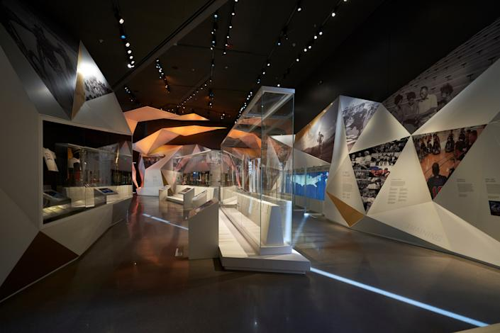 """<div class=""""caption""""> A look at the interior of the museum. While some of the interiors will allow for ample natural light to stream in, other parts will be darker to allow for a better experience. </div> <cite class=""""credit"""">Photo: Bill Baum</cite>"""