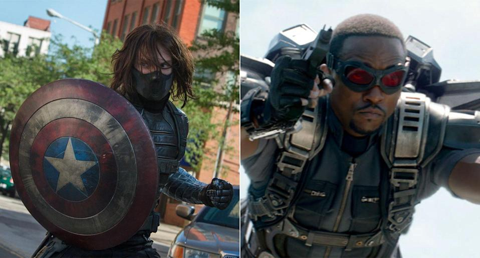 Bucky and Falcon have become fan favourites, earning their own spin-off TV series. (Disney)