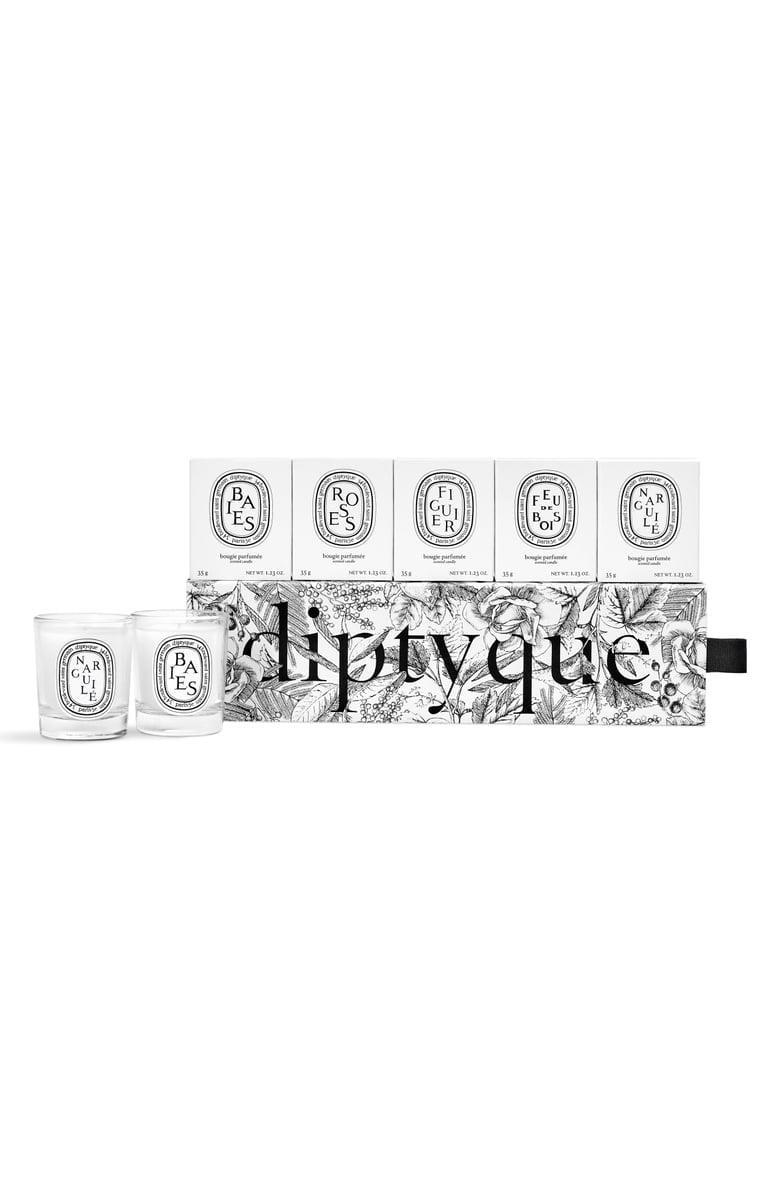 <p><span>diptyque Set of 5 Travel Size Limited Edition Scented Candles</span> ($55)</p>