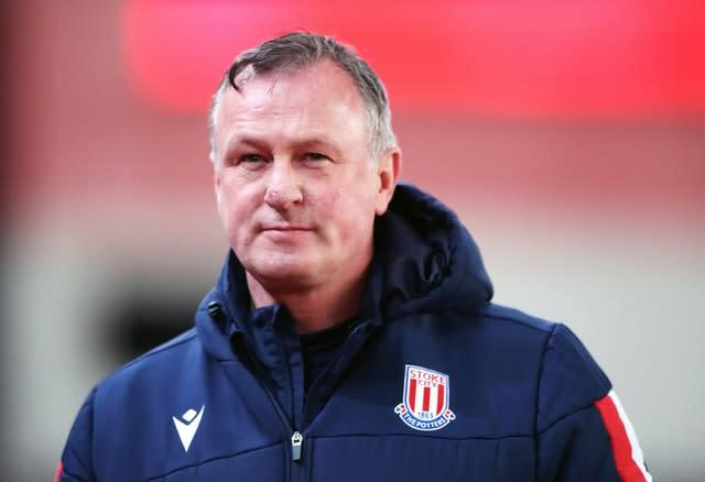Michael O'Neill stepped down in April to focus on his role as Stoke boss (Nick Potts/PA)