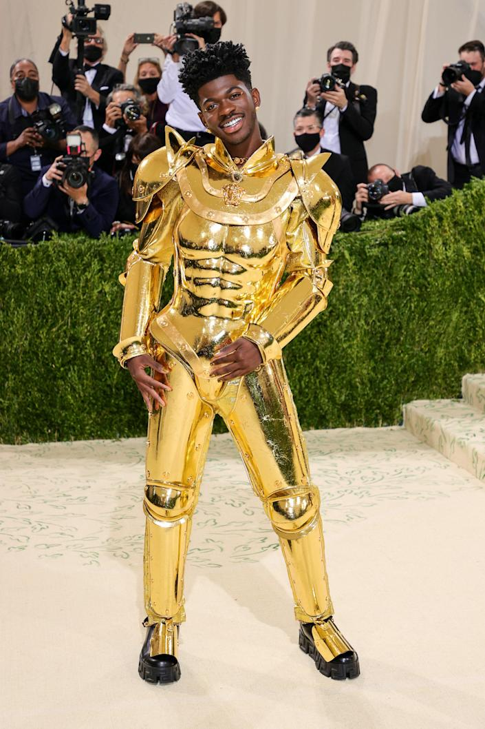 """<h1 class=""""title"""">Lil Nas X in Versace</h1><cite class=""""credit"""">Photo: Getty Images</cite>"""