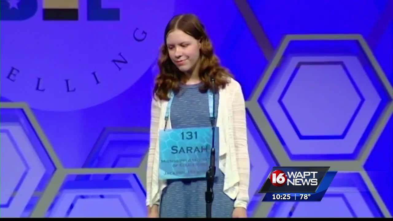 Sarah Spencer is from Hattiesburg and appeared today to qualify for the National Spelling Bee, but unfortunately she spelled the word wrong and disqualified today.