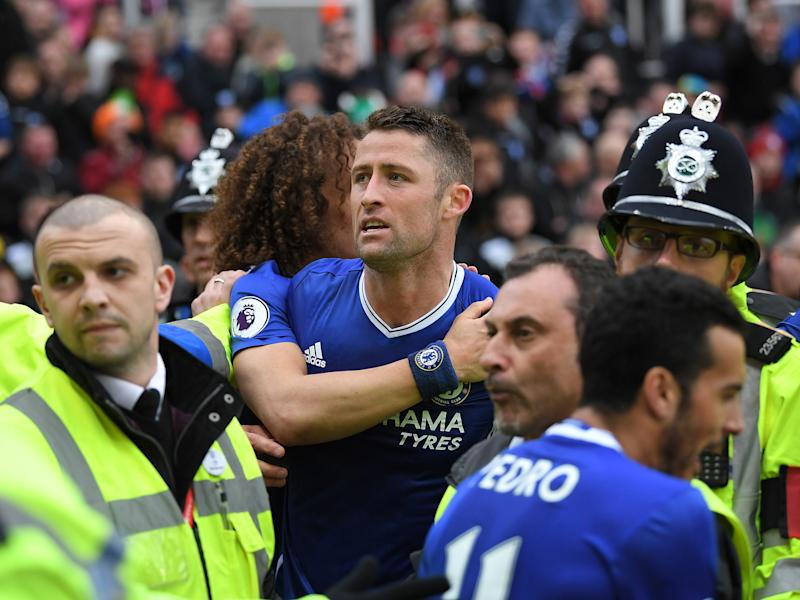 Gary Cahill could not hide his delight with his late headed winner: Getty