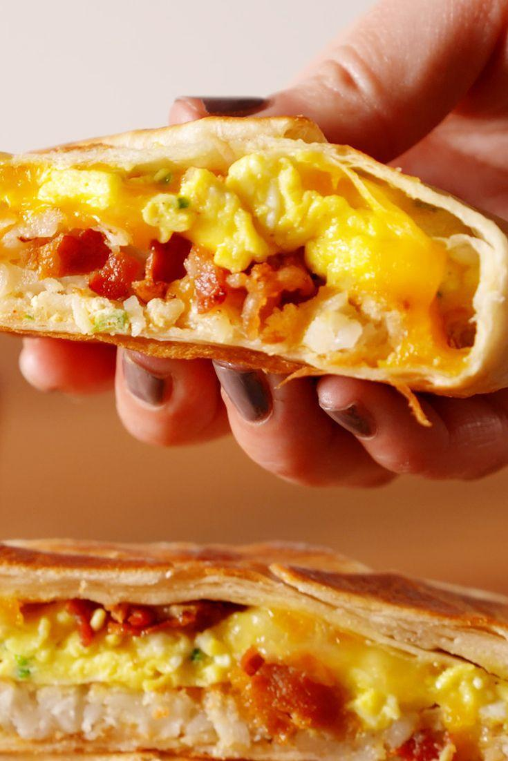 """<p>Crunchwrap supremes are always delicious, but after stuffing one with breakfast staples like eggs, bacon, and cheese, you'll even impress yourself. </p><p>Get the recipe from <a href=""""https://www.oprahdaily.com/cooking/recipe-ideas/recipes/a52456/breakfast-crunchwrap-supreme-recipe/"""" rel=""""nofollow noopener"""" target=""""_blank"""" data-ylk=""""slk:Delish"""" class=""""link rapid-noclick-resp"""">Delish</a>.</p>"""