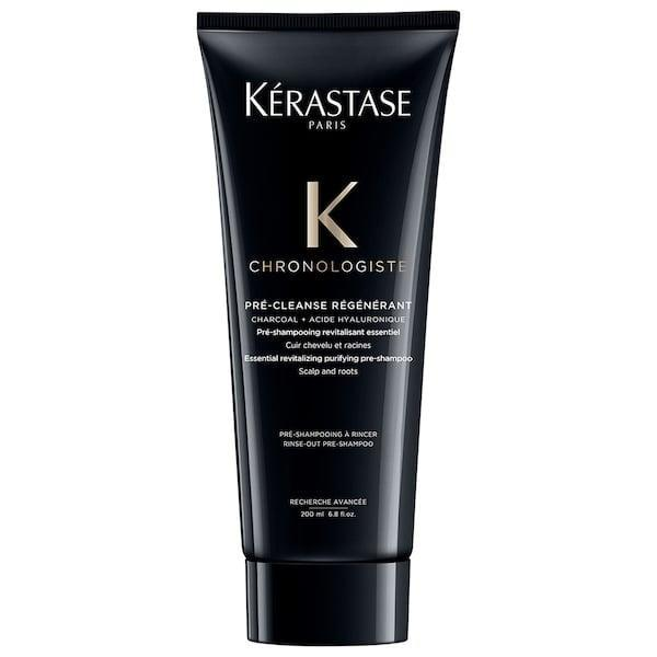 <p><span>Kérastase Chronologiste Charcoal Purifying Pre-Shampoo</span> ($46) cleanses dirt, pollution, and flaky dead skin cells off your scalp, and then hydrates hair, all before actual shampoo enters the picture.</p>