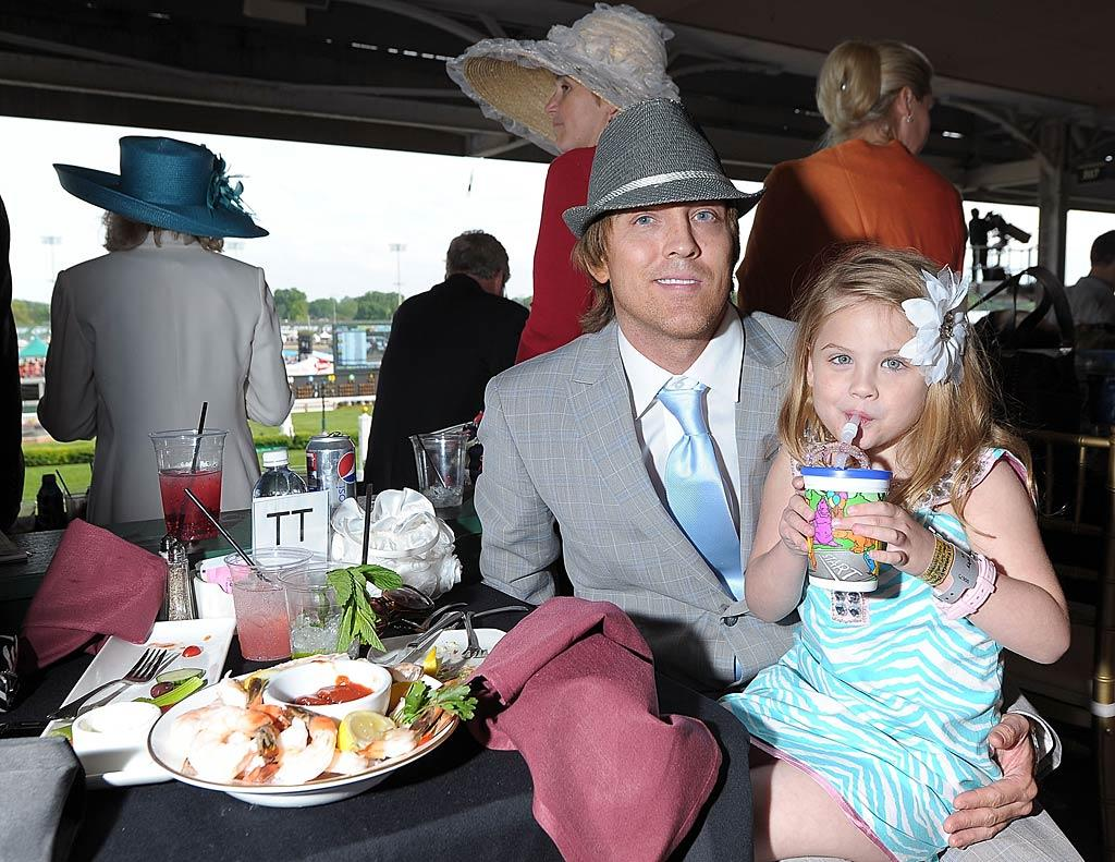 "Father-daughter duo Larry Birkhead and his daughter with Anna Nicole Smith, Dannielynn, were sweet in his sleek suit and her zebra-print dress. At 4 1/2, Dannielynn looked so grown up! Michael Loccisano/<a href=""http://www.gettyimages.com/"" target=""new"">GettyImages.com</a> - May 7, 2011"
