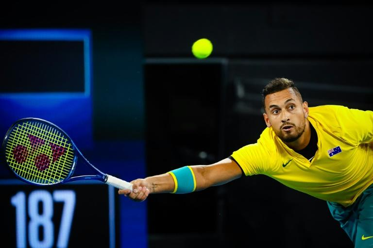 Nick Kyrgios of Australia was on a roll on day five of the ATP Cup tennis tournament in Brisbane