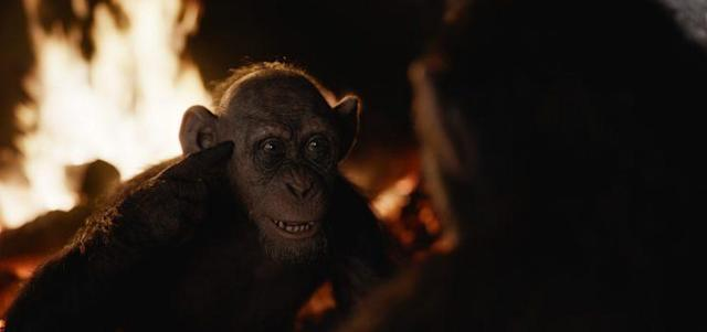 Steve Zahn's Bad Ape in <em>War for the Planet of the Apes</em>. (Fox)