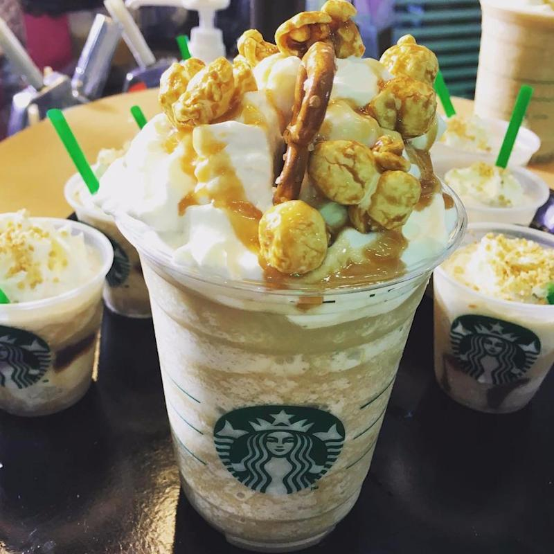 This INSANE New Starbucks Frappuccino Is Topped With 2 Crunchy Treats From Your Childhood