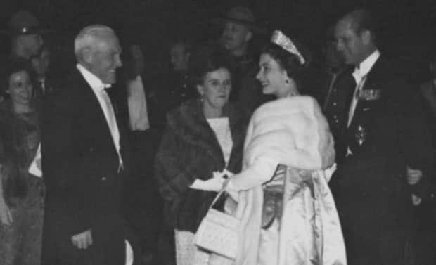 On an online condolence page, the Prince Edward Island lieutenant governor's office posted this photo showing Queen Elizabeth II and Prince Philip saying goodbye to then-Lieutenant Governor Willibald Joseph MacDonald and his wife Agnes during their visit to P.E.I. in 1964.   (Public Archives and Records Office, Acc5099/51 - image credit)