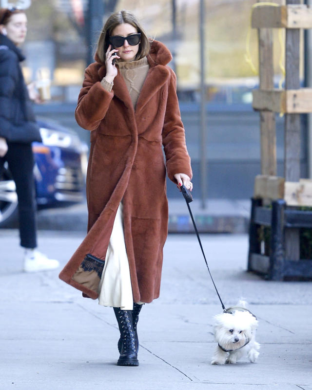 <p>Also on doggie duty on Tuesday, Olivia Palermo, who walks her pooch in N.Y.C.</p>