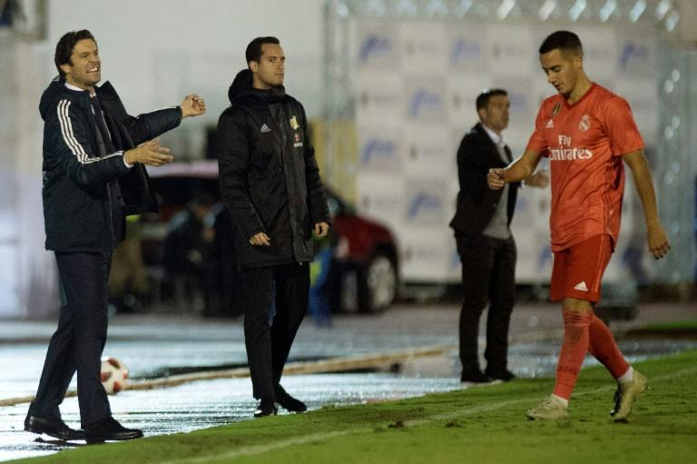 Santiago Solari took charge for Real Madrid's win over Melilla on Wednesday