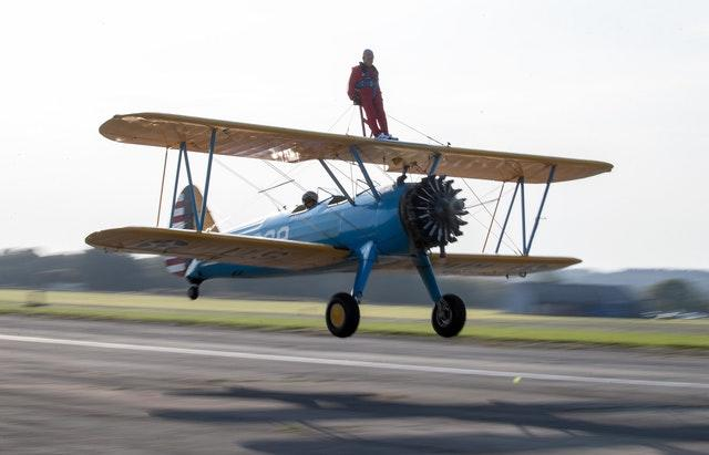 John Wilkins sponsored wing walk
