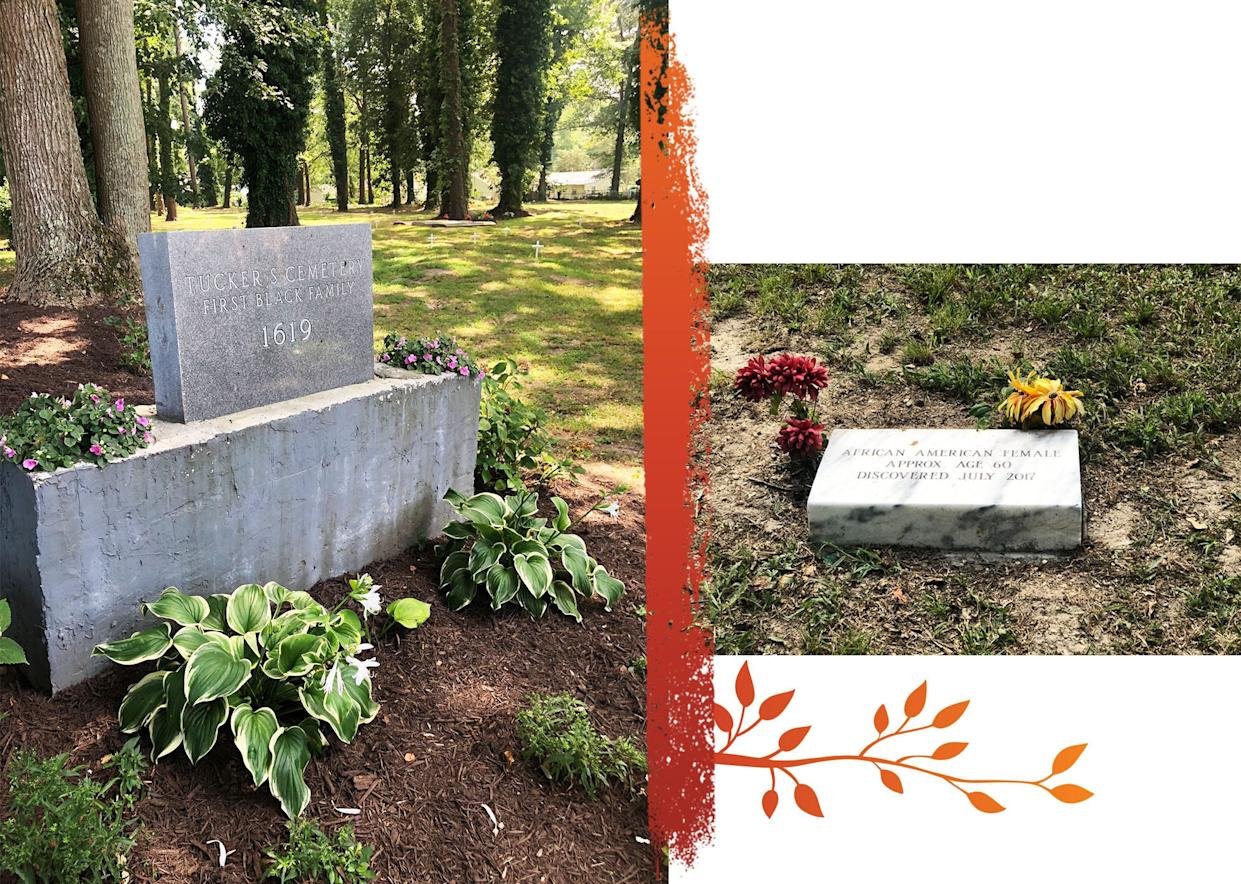 In 1896 the Tucker family cemetery was purchased by Thomas Tucker and five other men for $100. It's a place that had long been used by the Tucker family and is being preserved for generations to come. The new gravestone honors a woman whose remains were found a few years ago.