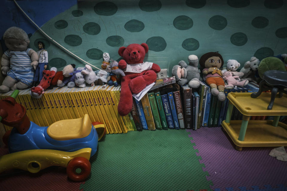 Toys at Camp Crame in Quezon City, which are used when working with child victims. Photo: Luis Liwanag