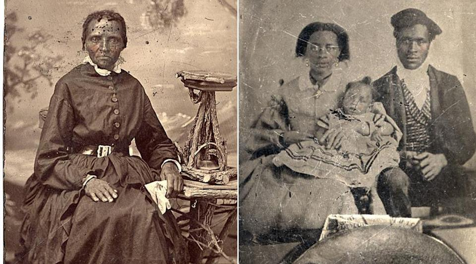 An unidentified woman and family photographed in the 1800s and preserved in an Archive of Ontario exhibit about enslaved people in Upper Canada.  (Photo: Archive of Ontario/Supplied)