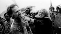 "<p>""We had a great love,"" said director Herzog of actor Kinski. ""But both of us planned to murder each other."" He didn't mean this figuratively either. Kinski's life was saved by his dog, who attacked Herzog as he was creeping up to set Kinski's house on fire. Herzog also pulled a gun on Kinski during the filming of 'Aguirre, Wrath Of God', saying he would shoot him and then himself after Kinski threatened to walk out.</p>"
