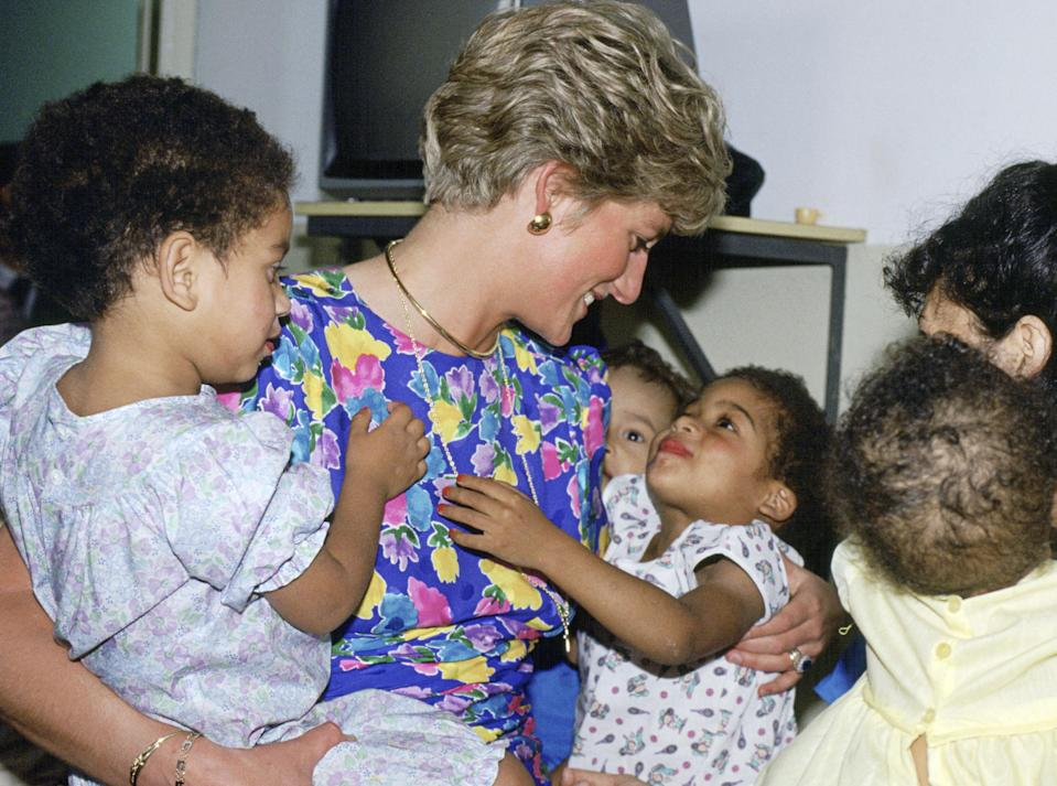 """<p>When Diana spoke with children, she always crouched to see them at eye-level. (It's become a signature move of her daughter-in-law.) """"Diana was the first member of the royal family to do this,"""" said Ingrid Seward, editor of <em>Majesty</em> magazine. """"The royal family used to say that everyone had to be deferential to them. But Diana said, 'If someone might be nervous of you or you're speaking to a very young child or a sick person, get yourself on their level.'""""</p>"""