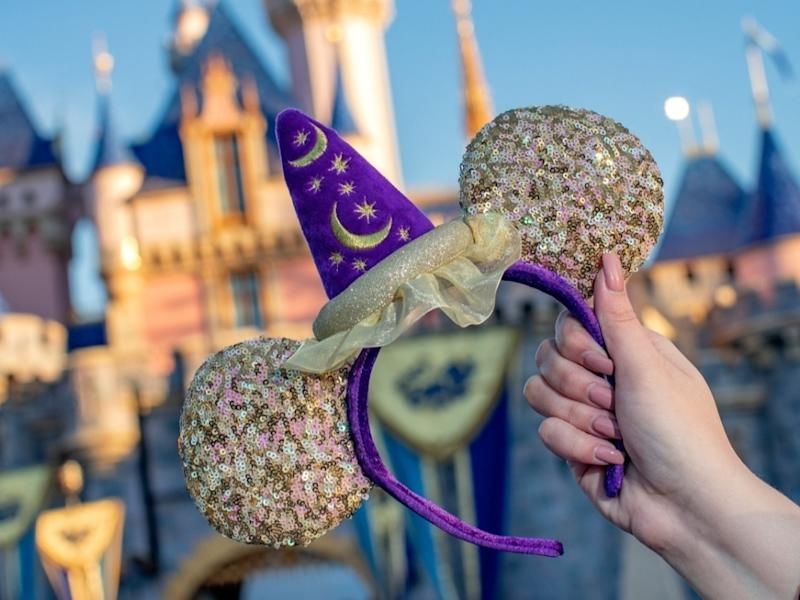 """""""Magic Happens"""" Headbands glitter on dressers at home, as fans await the chance to return to the Happiest Place on Earth."""