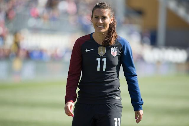 Ali Krieger's inclusion in the 2019 USWNT World Cup roster is still up in the air. (AP)