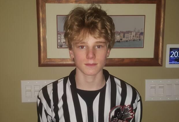 Logan Graham, 15, has been a referee with Hockey Eastern Ontario for a year.