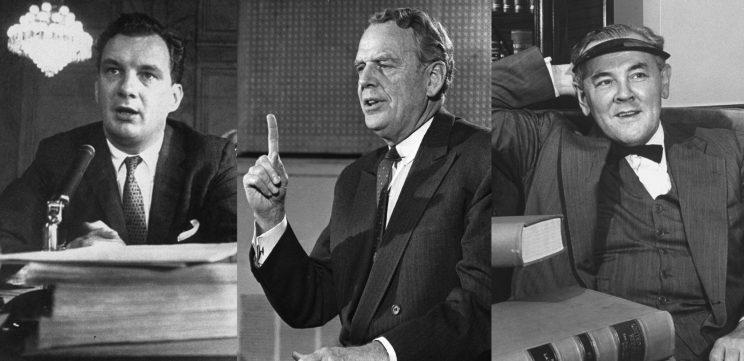"""Attorney Edward B. Williams in 1958; former Defense Secretary Clark Clifford in 1972; and attorney Tommy """"the Cork"""" Corcoran in 1946. (Photos: Paul Schutzer/The Life Picture Collection/Getty Images, AP Photo, George Skadding/The Life Picture Collection/Getty Images)"""