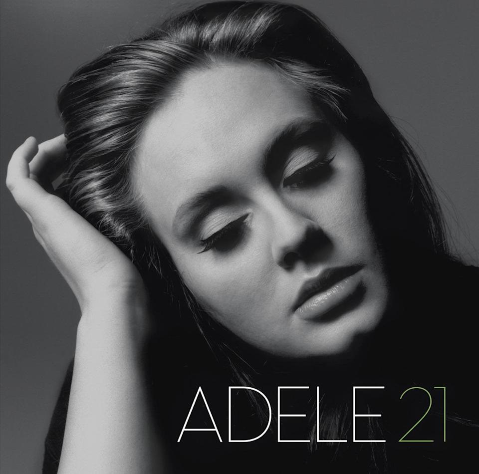 """<h3>3. Adele <em>21</em> (2011)</h3> <br> <br>If you broke up with anyone, anyone at all, in this decade, you likely pressed play on at least one track from <em>21</em>. Adele showed us that there are songs about heartbreak, and there are songs that dig down into the bleakest, blackest places we go after being dumped and words you can string together to smash even the coldest heart into a million chunks of pulpy ice. Breaking up, and getting over a breakup, will never be the same after this album. With each single, Adele reshaped the sonics pop music in her image. The biggest hits being played alongside Adele that year were the likes of LMFAO's """"Party Rock Anthem"""" and Katy Perry's """"Firework."""" Adele's timeless anthems didn't exactly blend in, but by popular demand, the radio (where most of us still got music as the decade kicked off) was forced to make a place for them. It was one of the biggest power moves in music of the entire decade. <br> <br> <strong>Columbia Records</strong> Adele - 21, $, available at <a href=""""https://www.amazon.com/21-Adele/dp/B004I1WIWU/"""" rel=""""nofollow noopener"""" target=""""_blank"""" data-ylk=""""slk:Amazon"""" class=""""link rapid-noclick-resp"""">Amazon</a>"""