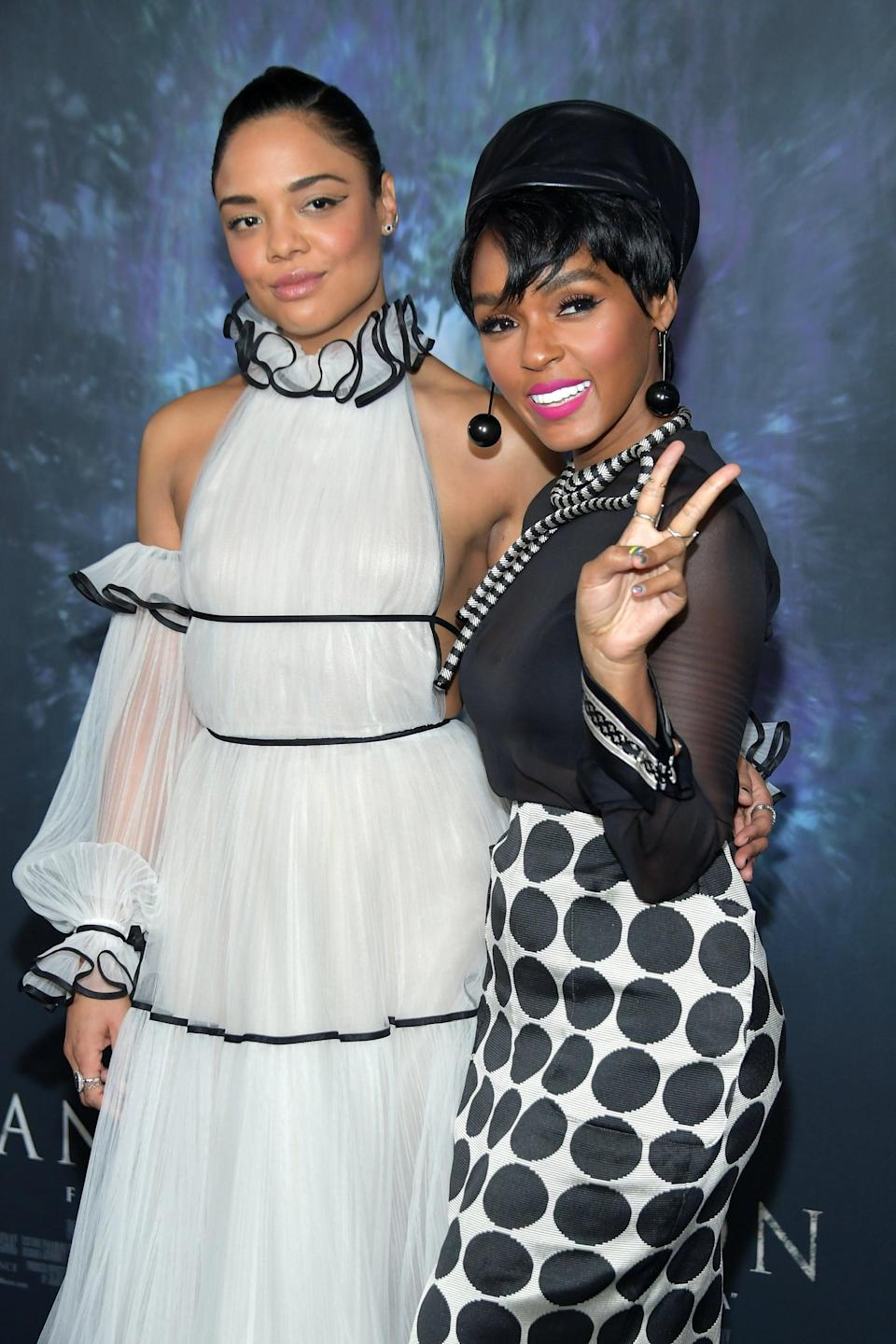 """<p>Speculation about Janelle Monáe and Tessa's relationship began in April 2015, when Tessa appeared as a backup dancer in <a href=""""https://www.youtube.com/watch?v=0OkB6p_FZAw"""" class=""""link rapid-noclick-resp"""" rel=""""nofollow noopener"""" target=""""_blank"""" data-ylk=""""slk:the singer's &quot;Yoga&quot; music video"""">the singer's """"Yoga"""" music video</a>. The pair were then photographed for the first time together the following month <a href=""""https://www.gettyimages.com/detail/news-photo/recording-artist-janelle-monae-and-actress-tessa-thompson-news-photo/475334974"""" class=""""link rapid-noclick-resp"""" rel=""""nofollow noopener"""" target=""""_blank"""" data-ylk=""""slk:at the 2015 MOCA gala"""">at the 2015 MOCA gala</a>. Romance rumors around the duo intensified at the beginning of 2018, after <a href=""""https://www.vulture.com/2018/04/tessa-thompson-janelle-monae-are-star-crossed-lovers-in-album-visual.html"""" class=""""link rapid-noclick-resp"""" rel=""""nofollow noopener"""" target=""""_blank"""" data-ylk=""""slk:they played star-crossed lovers"""">they played star-crossed lovers</a> in the <a href=""""https://www.youtube.com/watch?v=jdH2Sy-BlNE"""" class=""""link rapid-noclick-resp"""" rel=""""nofollow noopener"""" target=""""_blank"""" data-ylk=""""slk:&quot;emotion picture&quot; version"""">""""emotion picture"""" version</a> of Janelle's <strong>Dirty Computer</strong> album and attended the Los Angeles premiere of <strong>Annihilation</strong>.</p> <p>During an interview with <strong>Porter Edit</strong> in June 2018, <a href=""""https://www.net-a-porter.com/en-ca/porter/article-502e16f70e0351fa"""" class=""""link rapid-noclick-resp"""" rel=""""nofollow noopener"""" target=""""_blank"""" data-ylk=""""slk:Tessa addressed the rumors head-on"""">Tessa addressed the rumors head-on</a>. """"It's tricky, because Janelle and I are just really private people and we're both trying to navigate how you reconcile wanting to have that privacy and space, and also wanting to use your platform and influence,"""" she said. </p> <p>Tessa continued, """"We love each other deeply. We're so close, we vibrate on the """