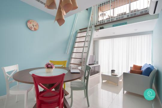 ... and high ceilings to give the apartment a larger perspective. Keep colours and décor light \u2013 pastel colours like baby blues and pinks is a cute touch. & 10 Amazing Loft Apartments In Singapore
