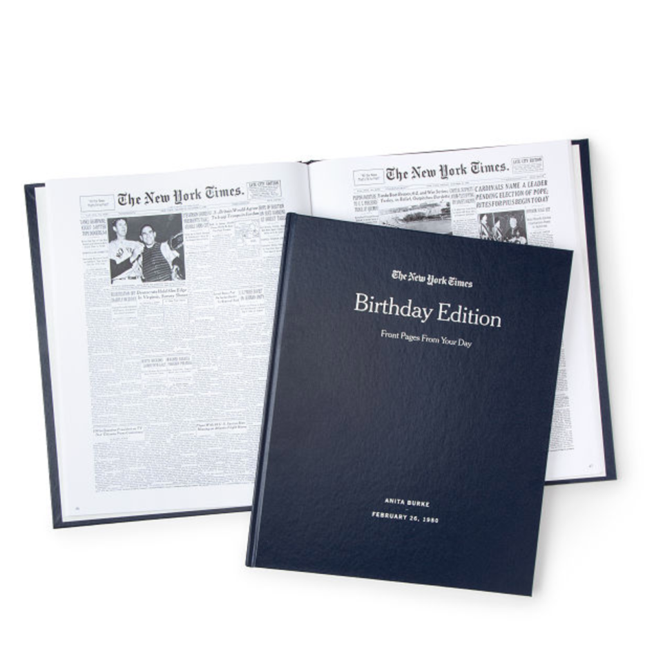 New York Times Custom Birthday Book (Photo via Uncommon Goods)