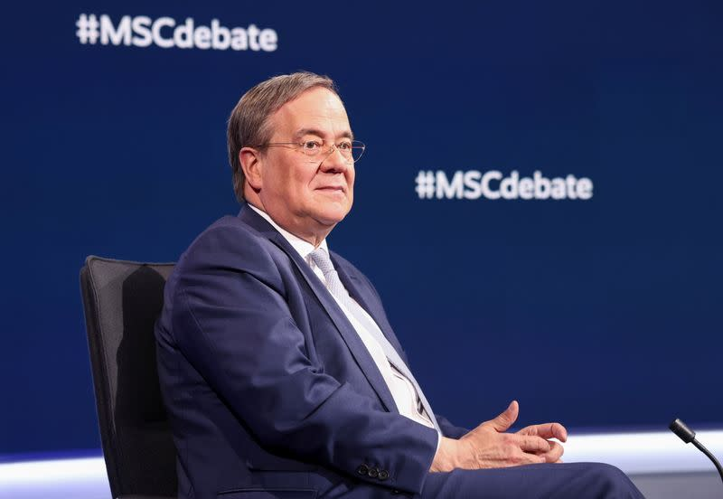 German top candidates for chancellor attend TV debate in Berlin
