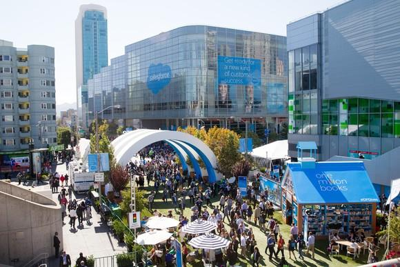 The gathered crowd at Dreamforce, the annual conference for Salesforce