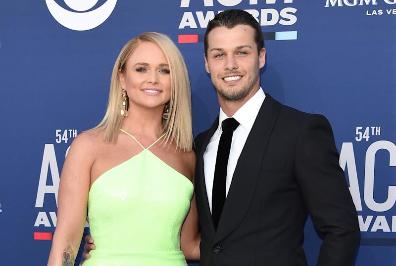 Miranda Lambert and Brendan McLoughlin at the Academy of Country Music Awards in April. (Photo: Axelle/Bauer-Griffin/FilmMagic)