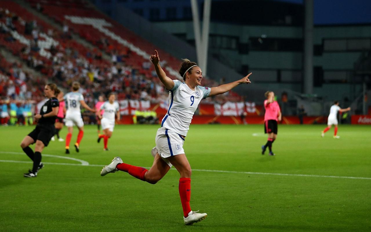 "This was the floor that was slippery when wet, the trip wire concealed in the undergrowth, the pot hole in the road, but England's Lionesses did not slip, or stumble, they skipped serenely through a tricky looking test against Scotland to launch their European Championship campaign in ominous style. This performance will have been noted by all their rivals, most notably Germany and France, who were far less impressive in their opening games. England were the last of the pre-tournament favourites to play, but whereas the other matches have been tight, cagey affairs, this was a powerful display from Mark Sampson's side, with Arsenal's Jodie Taylor becoming the first English woman to score a European Championship hat-trick. There were superb performances all over the pitch, though, and another Arsenal player, Jordan Nobbs, who scored England's fifth goal with an exquisitely controlled long-range volley, could well become the star of the tournament. Technically superb, she is also quick and tormented Scotland with her imaginative passing. Jodie Taylor is the first English woman to score a Euros hat-trick Credit: AFP By the end of the rout, it was easy to forget that Scotland were potentially dangerous opponents, desperate, as ever, to deflate English egos. They were ruthlessly and relentlessly outclassed, conceding three goals in each half. The grimace on the face of Scotland's First Minister Nicola Sturgeon, in the stands, summed up their night perfectly. It was a humbling, bruising experience. For England, though, this was the perfect start that will send a shudder through the rest of the teams in Holland. Taylor's hat-trick was a masterclass in clinical finishing, with the other goals coming from Birmingham City's Ellen White and a late header from substitute Toni Duggan. ""I have to congratulate Jodie who has joined an elite club,"" said Sampson, about a player who was overlooked under former manager Hope Powell. ""I've not seen a better striker in the game, anticipating a pass, she is world class. ""I'm also really pleased with the overall performance. You could see the work the girls have put in preparing for this. We found a way to enjoy and thrive in a pressure situation and that is so important for the rest of the tournament."" Meet the Lionesses Taylor will always remember this night in Utrecht fondly, but she will want to forget the scuffed volley early on after Lucy Bronze had picked her out with an excellent first-time cross. It did not knock her self-belief, though, and she opened the scoring minutes later. Fran Kirby sprung the offside trap with a clever dummy to allow Bronze's pass to find its way behind the defence. Taylor's eyes sent Scotland goalkeeper Gemma Fay one way before rolling the ball another. Scotland were being torn apart and they conceded a second when they failed to deal with a set piece after some lovely skill from Kirby drew a foul. The delivery from Nobbs was sublime and although Scotland blocked an initial header from Jill Scott and cleared a second shot off the line, Taylor sniffed out a chance, reacting faster than anyone to hook the loose ball home. England's midfielder Jordan Nobbs tackles Scotland's midfielder Caroline Weir Credit: AFP Scotland were all over the place and when Scott's long-range effort was tipped on to the bar by Fay, her defence was caught completely flat-footed, allowing White to stab the rebound into the bottom corner. The game looked done as a meaningful contest before half-time. Scotland tried to rally, but Taylor punished some poor defending again, running on to a header before delicately lifting the ball over the head of Fay. It was difficult not to start feeling a little sorry for Scotland, but the best teams are utterly ruthless and, having been criticised in the past for not killing teams off when they are on top, this was an important box ticked for Sampson's side.  Credit: AFP England did not ease off, although Taylor was allowed to put her feet up after an hour with Barcelona-bound Duggan coming on. Nobbs' volley made it five, before Duggan scored a sixth with a close range header. ""It was a really tough debut for us and we played against a very good side that is a contender to win this tournament,"" said Scotland coach Anna Signeul, who revealed striker Jane Ross could miss the rest of the competition. ""They were very good in all areas. We are really disappointed, but it's not over for us."" 9:36PM FULL TIME And that's it! Utter domination from England. Scotland were much improved in the second half but England were just fitter, more composed, better on the ball, better organised, better movement... they were just better. By miles. 9:36PM GOOOOOOAAAAAAAL England 6 (Duggan 90+3') - 0 Scotland Houghton heads a corner on, Duggan jumps at the post to head in past the goalkeeper. England have destroyed Scotland here. 9:34PM 90 mins +2 - England 5 - 0 Scotland Weir tries a speculative effort from 30 yards but Bardsley saves easily.  9:32PM 90 mins - England 5 - 0 Scotland Scotland are looking for a consolation goal but just can't create anything. Cuthbert shows great skill as she dribbles into the area but England surround the shot that comes in after and clear their lines. 9:30PM GOOOOOOAAAAAALLLLLL England 5 (Nobbs 87') - 0 Scotland What a volley! Scott is taken out by a poor challenge but England keep playing without moaning, move it out left and the cross comes in. Nobbs weighs it up and hits a first time volley into the back of the net. Great finish.   9:26PM 85 mins - England 4 - 0 Scotland Weir slides in from behind on Scott and gives away a free-kick on the right wing. Nobbs will take this one too but it's too straight a ball into the box and Scotland cope well this time. 9:24PM 82 mins - England 4 - 0 Scotland Free-kick for England wide left. Nobbs stands over it and send the cross into the six yard box. Scotland don't deal with it and the ball falls to Bright just outside the six yard box. She drills it across the area but it goes behind for a goal-kick.   9:20PM 79 mins - England 4 - 0 Scotland Weir sends a really good ball into the area from a free-kick 35 yards out on the left. Nobody gets their head on it and Houghton goes down after a little clash of heads. She's OK though. 9:17PM 76 mins - England 4 - 0 Scotland Scotland have a corner. The delivery is good, an in-swinger and the goalkeeper punches away. Duggan picks up the loose ball and charges with it, skins one defender way too easily and moves at speed up the pitch. Scotland deal with the danger and then take Corsie off for Jo Love. 9:15PM 73 mins - England 4 - 0 Scotland England's forwards are finding some really clever passes now. Scotland's defence is being taken apart by inside through-balls and intelligent running - England's fitness is showing now too. They're still going at full tilt. White comes off, Carney comes on. 9:12PM 70 mins - England 4 - 0 Scotland Houghton has just nutmegged Clelland near the penalty box while pretending to shield the ball for a goalkick and that won't sit well with the Scotland player.  Duggan links with Bronze on the edge of the box, Bronze disguises the pass inside to Duggan and she's one on one! But takes a little too long and the goalkeeper closes the shot down. Corner. 9:09PM 67 mins - England 4 - 0 Scotland Everything about this goal is lovely. The Houghton diagonal ball out, the flick on from White and the deft finish from Taylor. #ENGSCOpic.twitter.com/oqdyovnyde— Ann Odong ⚽️�� (@AnnOdong) July 19, 2017   9:09PM 66 mins - England 4 - 0 Scotland Kirby comes off for Nikita Parris.  Scotland string some passes together and (I think) Weir charges through the middle to the final third. England deal with it but soon after, Clelland is played in down the right, skips past the defender and doesn't go down under a high challenge... and there's a huge chance to pull one back! She has Cuthbert looking for the pass in the area... but gives the goalkeeper The Eyes and shoots near post, into the side netting. 9:05PM 63 mins - England 4 - 0 Scotland Jill Scott is booked, I think for persistent fouling, as she brings down Weir in the centre-circle with a late sliding challenge. Erin Cuthbert is getting ready to come on for Scotland! She's a very talented, creative midfielder and is 19 years old today. Happy birthday to you. But will she unwrapping a goal on this special day? Only time will tell. 9:02PM 60 mins - England 4 - 0 Scotland And here comes Toni Duggan. Taylor is taken off to save her legs for another battle and on comes a Barcelona player. Nobbs is a really tidy player, always a yard ahead of her opponent in thought and a couple extra in sheer pace.  8:58PM 57 mins - England 4 - 0 Scotland Congratulations @Jodes_14 first England player EVER to score a hat-trick at a major tournament #Lionesses#WEURO2017pic.twitter.com/00LBZNJMpl— Sportswomen (@SportswomenSky) July 19, 2017 Great punch away by Bardsley, who is taking absolutely zero prisoners with a confident clearance in her six yard box from a whipped Scotland free-kick from wide. 8:56PM GOOOOOOOAAAAAAAALLLLL! England 4 (Taylor 53') - 0 Scotland And it's that woman again - Jodie Taylor beats the offside trap as Dieke is caught and a header plays the striker clean through to get her hat-trick. The keeper comes off her line and it's a brilliant controlled finish to lob the ball over her head and make it four. 8:54PM 52 mins - England 3 - 0 Scotland After a decent spell of Scotland possession, England have it back and again they're passing well around the final third. Nobbs is closed down out on the right and the ball is cleared but England soon have the ball back and build from the back. 8:51PM 50 mins - England 3 - 0 Scotland England are passing the ball really well here, taking their time, not rushing it... and as I type that, a centre-back looks up and pings the ball forward 50 yards to the Scotland defence. Clelland gets her first touch and sprints past Houghton, who dives in to give away a corner. Bardsley punches the corner away well but it falls to Ross on the edge of the area! Her first touch isn't good and the ball gets away... aaaaand she's leaning back as she hits the shot way over the bar. 8:48PM 47 mins - England 3 - 0 Scotland Official attendance here: 5,578. Given that's almost entirely travelling fans from England and Scotland, it's impressive support. #WEURO2017— John Skilbeck (@JohnSkilbeckPA) July 19, 2017 Scotland look to have changed to a 4-4-2 now - perhaps this isn't damage limitation after all.   8:46PM KICK-OFF 2 We're back! Fiona Brown is off, Lana Clelland - who plays in Italy - is on.  8:43PM Taylor's second goal Credit: PA Really tidy finish. While Scotland defence panics, she waits for the ball to drop and finishes well under pressure, with bodies flying everywhere.  8:42PM The occasion might be getting Scotland here ""Our two centre-backs were too slow to react,"" says Kim Little, in regards to Ellen White's goal. Gemma Fay isn't very tall and couldn't reach Scott's chipped shot which came off the bar but she couldn't do anything about the rebound, which was really well read by White. The Scotland defence didn't do quite as well and got caught standing like statues. 8:37PM Notes from Luke Edwards ""Jodie Taylor will dominate the headlines with her two well-taken goals, but for me the real star performer is Arsenal's Jordan Nobbs. Technically, she is the best player on the pitch, has a great reading of the game and is also extremely quick. The 24-year-old from Teesside, who began her career at Sunderland, could easily be a star of this tournament on the evidence of this first 45 minutes."" 8:32PM HALF TIME - England 3 - 0 Scotland Half the job is done for England and Scotland have been OK. They need to find some composure, keep their shape and actually pass the ball to players wearing the luminous pink tops though if they are to get anything out of this one. What can Anna Signeul say at half time to try and inspire a comeback? 8:31PM 45 mins - England 3 - 0 Scotland England are working really hard to win the ball back when Scotland do have it and Scotland's close control is letting them down under pressure.  Nobbs is on the corner of the box, sees White pulling away to the back post and hits a straight ball over the top to her. White heads wide. 8:29PM 44 mins - England 3 - 0 Scotland Weir has a chance to get the ball in the box from 40 yards out and this time the delivery is excellent. No Scotland player is able to get their head on the ball though and England can break again. Taylor leads the line, spots Fay out of position and tries to put the ball over her ahead again, but this time slices it well wide. 8:27PM 42 mins - England 3 - 0 Scotland Nobbs shoots from long range but it dips into the arms of Fay in the Scotland goal. England are in total control of this game - Scotland are sat back with everyone behind the ball and can't pass it to each other when they try and break.  8:24PM 39 mins - England 3 - 0 Scotland White, Nobbs and Kirby are really clever with the ball, darting around the final third trying to ping passes into each other.  8:21PM 36 mins - England 3 - 0 Scotland Ross is working hard upfront but isn't getting a lot of support. She does really well to win a throw high up the pitch and Crichton keeps the ball close until a defender kicks it out for a corner. Houghton gets a head on the ball from the cross... Barsley tries a neat little back-heel but puts it out for a throw.   8:19PM GOOOOOOAAAAAAAALLLLL England 3 (White 32') - 0 Scotland Uh oh. Scott looks up, the goalkeeper isn't off her line... but Scott tries to chip her anyway from about 35 yards. The ball comes off the bar (the goalkeeper can't reach it) and White is there to convert the rebound. Scotland are all over the place. 8:16PM 31 mins - England 2 - 0 Scotland Can Scotland find a way back into this one? Ross tries to take things into her own hands and tries a hit from 25 yards but it keeps rising way over the bar. England look confident now and Scotland still aren't. Bronze nutmegs Arthur on the right wing but her cross is just too high for White at the back post. 8:13PM GOOOOOOAAAAAAALLLLL! England 2 (Taylor 26') - 0 Scotland This is a dreadful goal for Scotland to concede. The defending is panicked, players are throwing themselves around the box and England's stay calm and focused on the ball. Taylor hits a really smart finish across the goal and into the back of the net over the goalkeeper. Scotland's weakness from wide set-pieces exposed early on! 8:10PM 25 mins - England 1 - 0 Scotland A Scotland free-kick from distance doesn't reach the box... and is headed away but Scotland do seem to be getting more into this. Perhaps the early nerves have died down.  Kirby wins a free-kick wide left with a clever drop shoulder and turn. This is a good chance for England. 8:07PM 22 mins - England 1 - 0 Scotland Credit: PA Stokes bursts forward down the left but her switched pass comes off a back. England keep the ball. Kirby is neat and tidy in the final third and tries to find a teammate but as the ball falls loose, the Scotland defender launches the ball as far away as possible.   Now Scotland are threading some passes together and Evans does well to escape the attentions of White. Brown hits a hopeful ball into the middle but it's straight as an arrow and the goalkeeper has no problem catching it. 8:03PM 19 mins - England 1 - 0 Scotland Luke Edwards: ""That was a really good finish from Jodie Taylor, especially as she had rather embarrassingly failed to connect with a volley moments earlier. She had a lot of time to think about things as she ran in on goal, but her eyes showed goalkeeper Gemma Fay one way before she rolled the ball the other side. Cool, calm and collected."" 8:03PM 18 mins - England 1 - 0 Scotland Houghton gets bored of passing safely back and forth with the left-back Stokes and launches a Hollywood pass to the opposite wing. It's a decent ball but the header on gives possession straight back to Scotland and they attack immediately, winning a corner. Houghton tries to win the header and goes down in a heap as players come together in the box. Houghton is annoyed but it's her own fault - she hasn't read the play well enough and goes flying over the back of her teammate. 8:00PM 16 mins - England 1 - 0 Scotland Scott is wiped out as she tries to bring the ball past the halfway line but the free-kick is poor and Scotland can bring it out. Arthur humps it forward and England have a throw.  When England went 1-0 up against Scotland... #WEURO2017#ENGSCOpic.twitter.com/iAh39UzgtW— Copa90 (@Copa90) July 19, 2017   7:58PM 14 mins - England 1 - 0 Scotland Scotland keep rushing things in defence and are throwing themselves into slide tackles and wild blocks around their own area. Kirby nearly produces an opening but Scotland hang on... and survive another corner. They need to calm this down and bit and show some composure. 7:57PM GOOOOOOAAAAAALLLLLLL! England 1 (Taylor 10') - 0 Scotland Taylor is through! A through-ball is sent between the midfield and defence and absolutely nobody tries to step across or block the pass or stop the run of Taylor. She's clean through, nobody can catch her and she slots calmly past Fay to open the scoring! 7:52PM 8 mins - England 0 - 0 Scotland England break with Kirby leading the charge, she passes to Nobbs who moves forward and then seems to run out of ideas. England keep the ball and tee up Nobbs for a hit on the edge of the box... but the goalkeeper saves low.  Now Scotland are on the attack with Evans down the right. She spots the run into the box from Ross and plays an early cross but it's put out for a corner. England punt the corner away. 7:50PM 6 mins - England 0 - 0 Scotland Lucy Bronze gets forward as England work the ball down the left. She cuts inside and then oooocha that is... what I will describe as a mistimed challenge from Barsley on her. Scott is closed down and Scotland have a chance to knock it forward and play on the counter-attack... but the pass goes straight to England's defence. 7:48PM 3 mins - England 0 - 0 Scotland What a start! Lots of stuff is happening. Nobbs takes the corner but Houghton heads it miles wide. Fay comes off her line quickly to close down a hopeful through-ball. 7:47PM KICK-OFF And we're off and there's a pretty dreadful tackle inside the centre-circle as Scotland try a weird kick-off. And it's a corner after about 15 seconds! Ross comes forward and batters a long range shot which drifts towards goal... Bardsley palms it over... and punches the corner away. England break up the other end and Nobbs wins a corner with an attempted shot. 7:44PM Not a huge turnout There are a lot of travelling fans there who belt out the national anthems but the stadium in Utrecht is nowhere near full. The stands behind the goals are empty and those along the pitch aren't exactly rammed full.  Right then - it's football time!  7:41PM Nicola Sturgeon is in the house From Luke Edwards: ""Nicola Sturgeon is here, complete with Tartan scarf. Theresa May hasn't bothered. Poor form from the British PM."" 7:40PM Here come the players  But first, this is what the dressing rooms look like. Credit: UEFA Credit: UEFA   7:31PM Inside the dressing room A glimpse inside the @ScottishFA dressing room... Where to watch #WEURO2017 �� https://t.co/oVCOKrAznC#ENGSCOpic.twitter.com/Fztvr2aLaJ— UEFA Women's EURO (@UEFAWomensEURO) July 19, 2017   7:29PM Heather O'Reilly (USA) on the big players tonight ""Jordan Nobbs is the total package of a footballer. She's my teammate at Arsenal so I've seen first hand what she can do. Great engine and she scores goals too. ""For Scotland it's Caroline Weir. She's the player that can unlock England's backline. Her creativity and craftness on the ball is key."" 7:25PM Michael Owen on the rise of the women's game ""Gary Lineker was the first player to leave these shores (he's in Holland) to play for Barcelona. I think our league is so strong that it's like the Premier League and no-one wants to leave."" 7:20PM Luke Edwards on England's lineup Trying to predict Mark Sampson's line ups before the game is a notoriously difficult task given his love for squad rotation, but the only real surprises are that Barcelona-bound Toni Duggan only starts on the bench, while Chelsea's Millie Bright starts alongside Steph Houghton in the centre of defence. England start the game as favourites but they are also under pressure. If they can beat Scotland in their opening game, they should be assured of a place in the quarter-final given how weak Portugal look. However, should the Scots cause an upset, England will probably need to beat Spain in their second group game on Sunday. Spain are many people's outsiders to win the Euros so... To make matters worse, England are notoriously slow starters in major tournaments, whether it is the men's or the women's team. If England win tonight in Utrecht it will be the first time they have won their first game since 2005. Ominously, former Scotland international Pat Nevin, who is here working for the BBC, fancies Scotland to win as they will catch England cold. He is Scottish though, so maybe he would say that... 7:10PM Mark Sampson says ""We've had a nice relaxing day and tuned in later.  ""I think we've earned the right to be a team to come here and do something special. Scotland are a good team and have great individual talent. We're confident in our ability to thrive in this environment."" 7:07PM Hannah Bardell in Scotland top SNP's Hannah Bardell wearing a Scotland football shirt in the House of Commons Credit: PA MP Hannah Bardell was wearing this earlier today. Supportive. 7:07PM Pre-match thoughts Kim Little: ""I had surgery four weeks and I'm disappointed. I think it's great we've qualified and to play our first game against England makes it special. I think to get out the group would be great but it will be a hard thing. We're just glad to be here and experience it."" Eniola Aluko: ""I'm disappointed not to be on the pitch but I'm content being here! This is a huge time for England, finished with a bronze medal in 2015 and made the final last time."" 7:04PM It's Balding! She's on screen, the coverage has begun! And the first question is if England can win their first international tournament in 51 years... can they? The favourites for the tournament are Germany, followed by France. 7:00PM Welcome Good evening everyone and welcome to our liveblog for this enormous match. I'm excited for tonight's game even though, as  Scot (a neutral Scot, I might add) it does seem very possible that England could win it by a couple of goals or so. We shall see.  A surprise is that Erin Cuthbert, the young starlet of this Scottish team, has started on the bench. That could be careful management or a ploy to bring her on later when England begin to tire.  6:57PM Scotland team #SWNT 