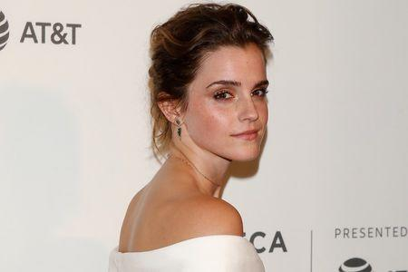 Actor Emma Watson arrives for 'The Circle' premiere at the Tribeca Film Festival in the Manhattan borough of New York