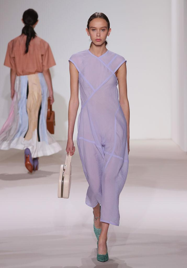 <p>On September 10 2017, Victoria Beckham demonstrated how she now views feminity. Long gone are the hip-grazing shift dresses and power handbags in favour of softer silhouettes and sheer, floaty fabrics. <em>[Photo: Getty]</em> </p>