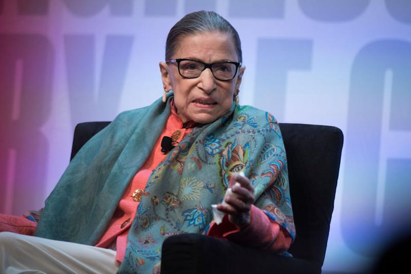 The death of Supreme Court Justice Ruth Bader Ginsburg is mourned by her many fans, including celebrities. (Photo: Tom Williams/CQ-Roll Call, Inc via Getty Images)