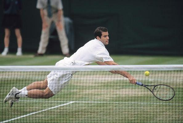 "In Andre agassi's words, Pete Sampras ""walked on water' during their 1999 Wimbledon final."