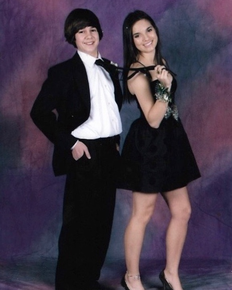 """<p>OK, so while this <em>technically</em> wasn't a photo taken at prom, it's still way too precious not to include! David shared this throwback pic on Valentine's Day 2019.</p><p>""""Happy Valentines Day from when Natalie [Mariduena] dragged me to my first high school dance only to leave me in the cafeteria while she danced with half the high school football team,"""" he hilariously <a rel=""""nofollow"""" href=""""https://www.instagram.com/p/Bt4TBQwFDdI/"""">captioned on Instagram</a>.</p>"""